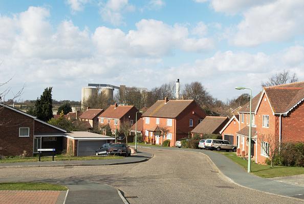 No People「Housing built near a sugar factory, Ipswich, UK」:写真・画像(4)[壁紙.com]
