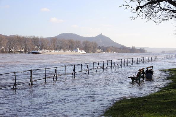 Bench「High Tide At The River Rhine」:写真・画像(11)[壁紙.com]