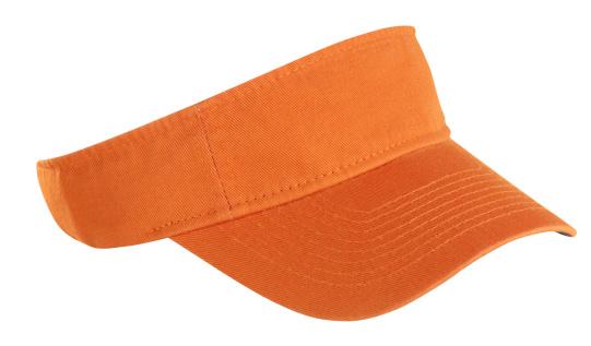 縁なし帽子「オレンジテニスバイザー」:スマホ壁紙(1)