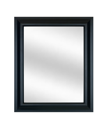 Rectangle「Picture Frame in Black with Mirror, White Isolated」:スマホ壁紙(6)