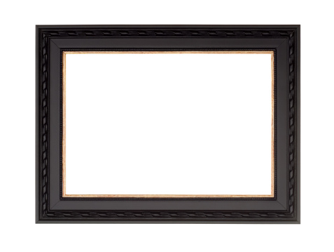 Black Color「Picture Frame in Black, Modern Contemprary Style, White Isolated」:スマホ壁紙(3)