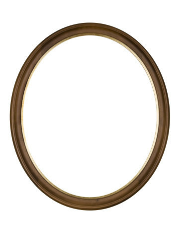 19th Century「Picture Frame Brown Oval Circle, White Isolated Studio Shot」:スマホ壁紙(3)