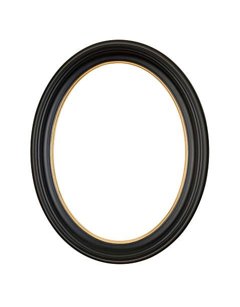 Picture Frame Black Oval Circle, White Isolated Studio Shot:スマホ壁紙(壁紙.com)