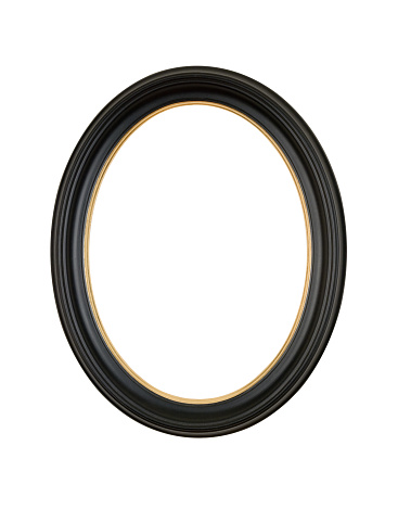Zero「Picture Frame Black Oval Circle, White Isolated Studio Shot」:スマホ壁紙(17)