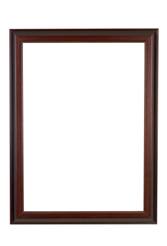 Frame - Border「Picture Frame Brown and Red Wood, Narrow, White Isolated」:スマホ壁紙(1)