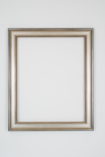 Art And Craft「Picture Frame in Plain Silver, Studio shot on White」:スマホ壁紙(15)