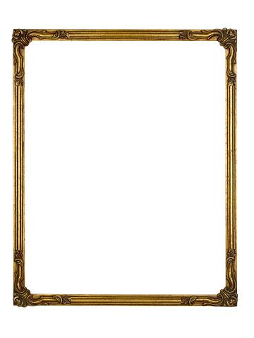 Fragility「Picture Frame Gold Art Deco, White Isolated Design Element」:スマホ壁紙(10)