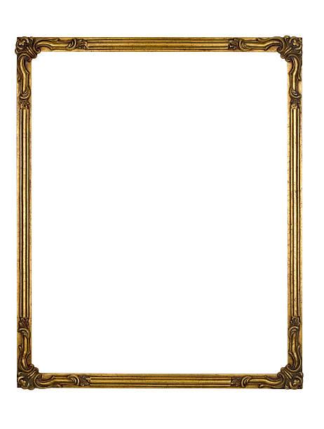 Picture Frame Gold Art Deco, White Isolated Design Element:スマホ壁紙(壁紙.com)