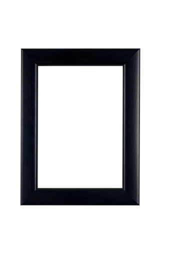 Black Border「Picture Frame in Classic Black, White Isolated」:スマホ壁紙(8)