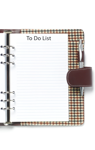 Spiral Notebook「Blank to do list in diary」:スマホ壁紙(18)