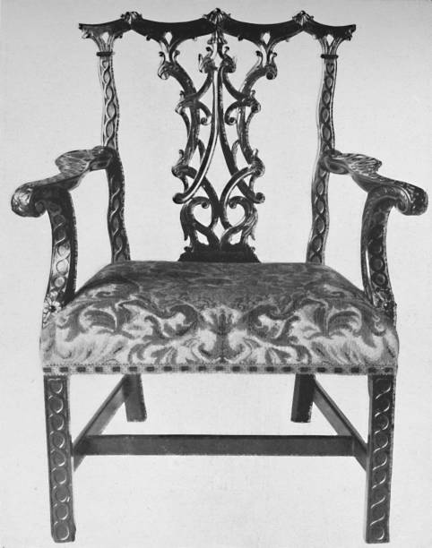 Chinese Chippendale Elbow-Chair  With Seat In Contemporary Needlework:ニュース(壁紙.com)