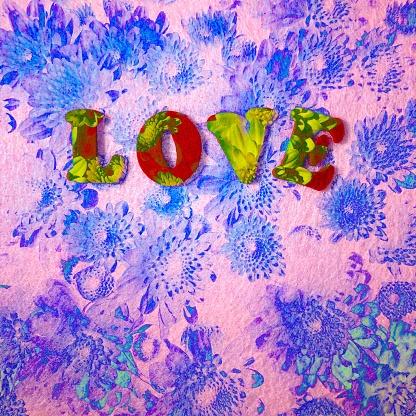 Multiple Exposure「Love and flowers」:スマホ壁紙(13)
