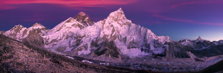 Himalayas「View of Mt Everest from Kala Pattar at dusk.」:スマホ壁紙(17)