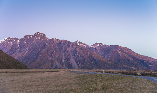 Mt Cook「View of Mt Cook and Fox Glacier looking over Lake Matheson on the West Coast of New Zealand」:スマホ壁紙(17)