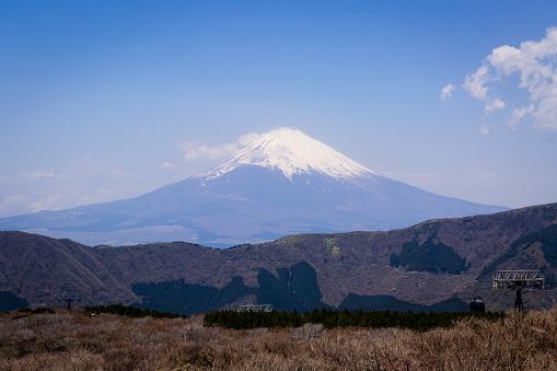 Japan「View of Mt. Fuji from Owakudani Valley, Hakone, Kanagawa Prefecture, Japan」:スマホ壁紙(11)