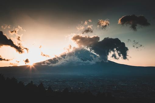 Mt Fuji「View of Mt Fuji at sunset」:スマホ壁紙(2)
