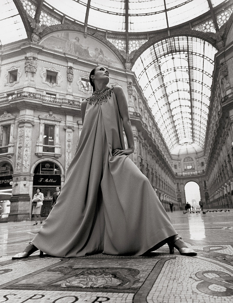 Givenchy「Katharina Sarnitz (Noever) in a creation of Hubert de Givenchy. Galleria Vittorio Emanuele II. Milan. Photograph. 1969.」:写真・画像(19)[壁紙.com]