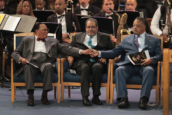 Louis Farrakhan「Soul Music Icon Aretha Franklin Honored During Her Funeral By Musicians And Dignitaries」:写真・画像(5)[壁紙.com]