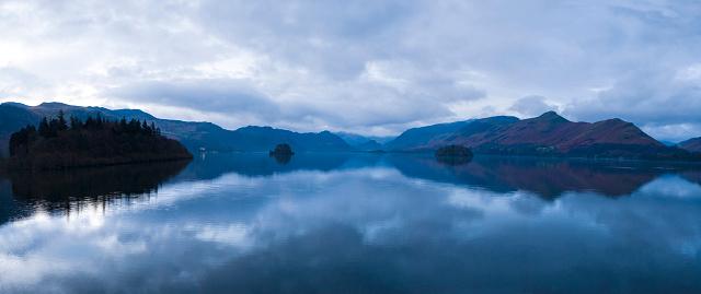Twilight「Blue mountain lake panorama」:スマホ壁紙(9)