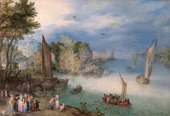 Water's Edge「River Scene With Boats And Figures,」:写真・画像(16)[壁紙.com]