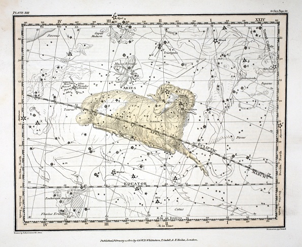 Insect「The Constellations (Plate Xiii) Aries And Musca Borealis」:写真・画像(18)[壁紙.com]