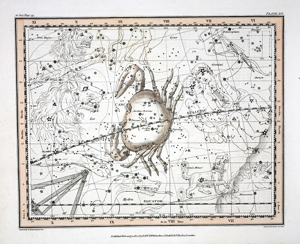 Hand Colored「The Constellations (Plate Xvi) Cancer」:写真・画像(8)[壁紙.com]