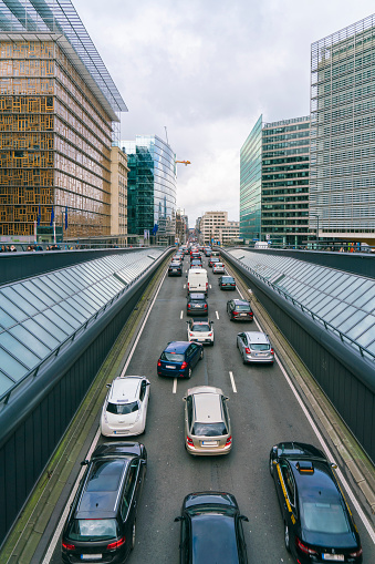 Capital Region「Schuman station with Justus Lipsius Building on left and Berlaymont Building on right, Brussels, Belgium」:スマホ壁紙(6)