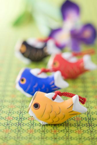 こどもの日「Carp shaped ornament」:スマホ壁紙(13)