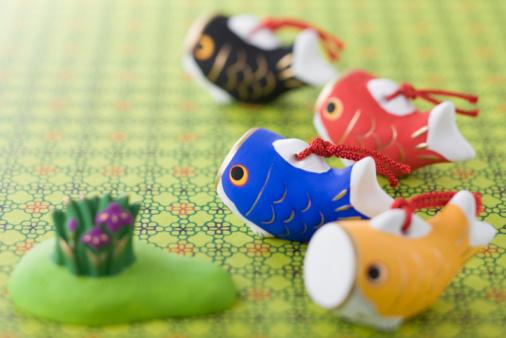 こどもの日「Carp shaped ornament」:スマホ壁紙(1)
