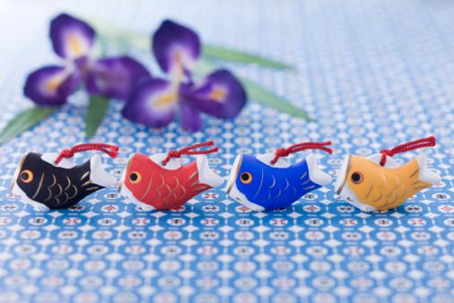 こどもの日「Carp shaped ornament」:スマホ壁紙(3)