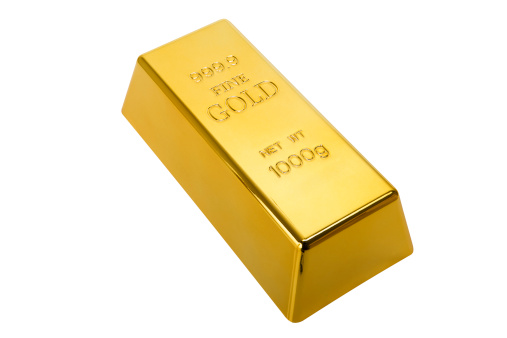 Currency「Gold Ingot with clipping path」:スマホ壁紙(7)