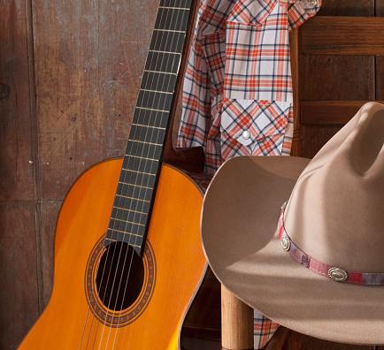 Guitar「Cowboy hat and guitar」:スマホ壁紙(4)