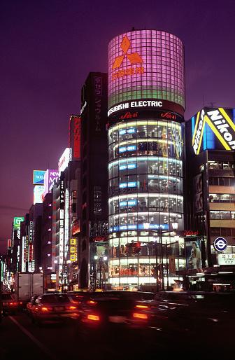 Tokyo - Japan「Ginza at Night」:スマホ壁紙(12)