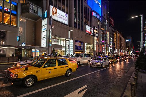 東京都中央区「Ginza at night」:スマホ壁紙(9)