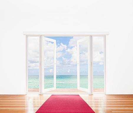 French Doors「French doors opening onto beach」:スマホ壁紙(13)