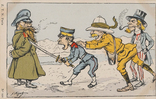 Prejudice「Japanese Soldier Challenging Russian Soldier, Urged On By An Englishman And Uncle Sam」:写真・画像(10)[壁紙.com]