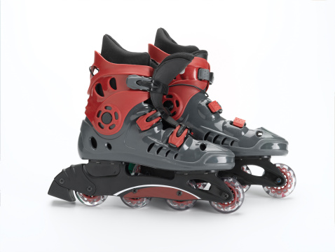 Roller skate「Inline skates on white background」:スマホ壁紙(2)