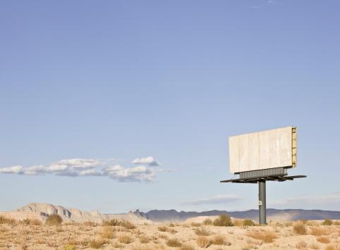 Absence「Empty billboard in the desert.」:スマホ壁紙(3)