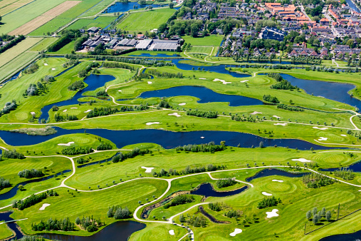 Netherlands「Golf course aerial view」:スマホ壁紙(0)
