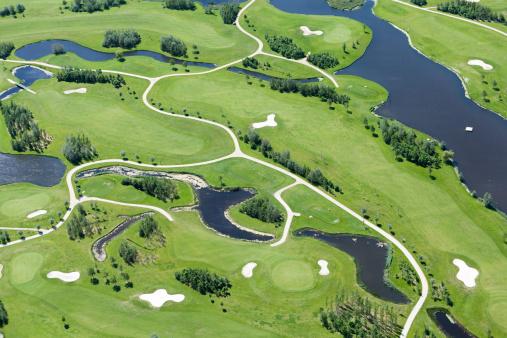 Sand Trap「Golf course aerial view」:スマホ壁紙(14)