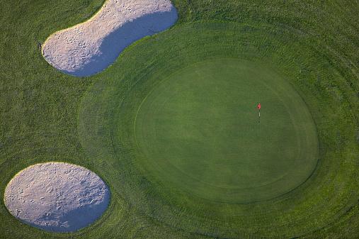 Sand Trap「Golf course, aerial view, Stockholm, Sweden」:スマホ壁紙(3)