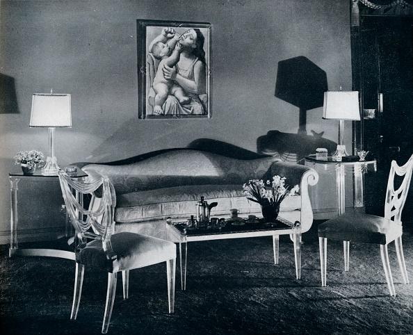 Coffee Table「'Plexiglas furniture in a 1940s interior', 1941. Artist: Unknown.」:写真・画像(1)[壁紙.com]