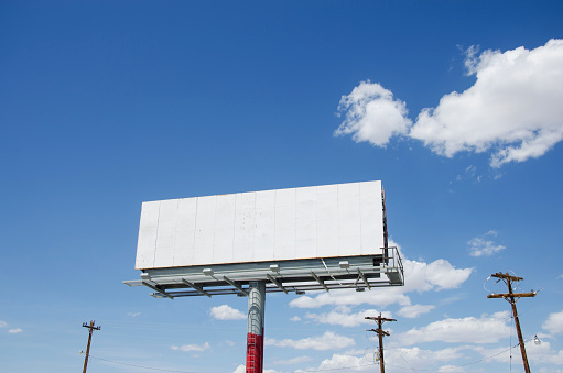 夏「USA, Nevada, Empty billboard against sky」:スマホ壁紙(14)