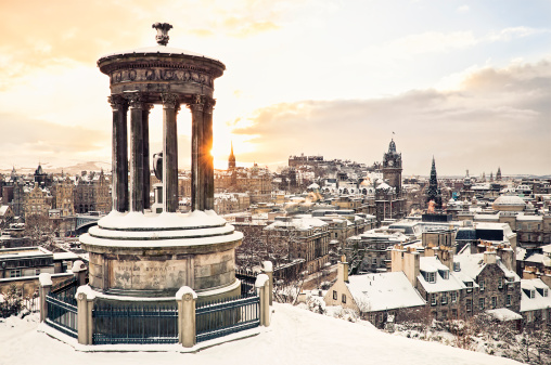 Scotland「Edinburgh Under Snow」:スマホ壁紙(16)