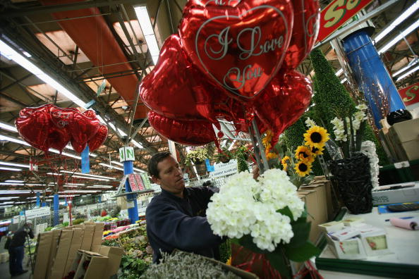 バレンタイン「New Covent Garden Flower Market Gears Up For Valentines Day」:写真・画像(14)[壁紙.com]