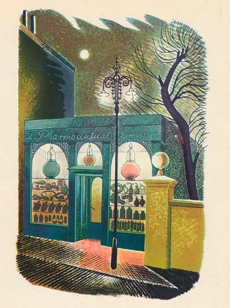 Chemist Shop at Night, 1938, (1946):ニュース(壁紙.com)