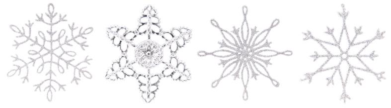 雪の結晶「シルバーのクリスマスの結晶並んでいる。」:スマホ壁紙(2)