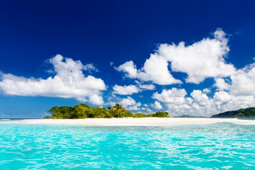 Frond「Sandy Spit, British Virgin Islands - paradise Caribbean island」:スマホ壁紙(17)