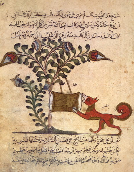 "Musical instrument「The fox and the drum, arab miniature from ""Kalila va dimna"", 13th century」:写真・画像(9)[壁紙.com]"