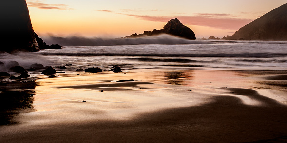 Pfeiffer Beach「Pfieffer Beach at sunset, Big Sur, CA」:スマホ壁紙(9)